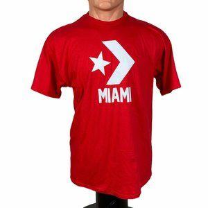 Converse MIAMI T-Shirt Cotton Red Men's